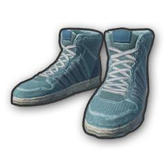 Blue Hi-top Trainers
