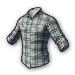 Checked Shirt White
