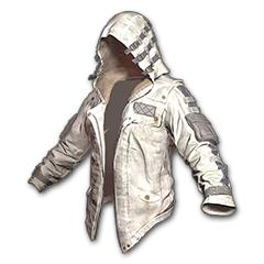 Leather Hoodie White