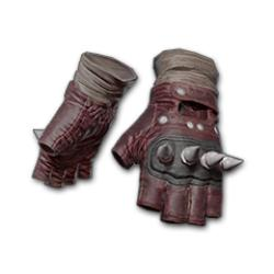 Punk Knuckle Gloves Red