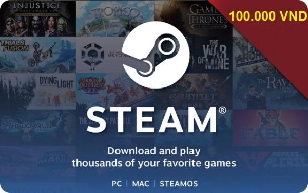 Steam wallet 100.000 VND